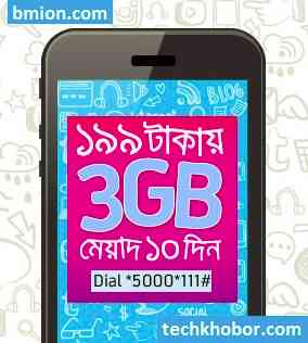 Grameenphone-gp-3GB-10Days-199Tk-Dial-*5000*111#