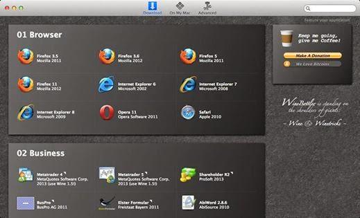 برنامج لتشغيل برامج الويندوز على الماك WineBottler بسام خربوطلي عالم التقنيات برامج اندرويد سوني هواوي  سامسونج  عالم التقنية  اختراق فيسبوك لاول مرة  صفحات مزورة اكواد