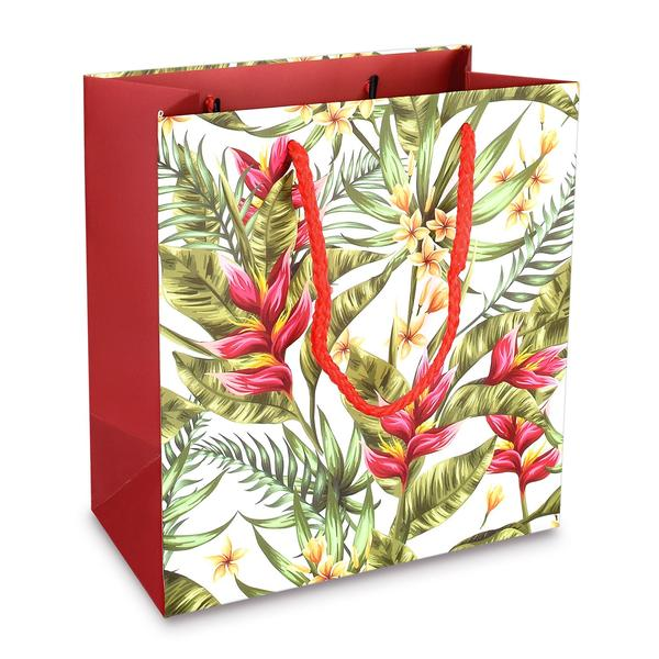 Shop Wholesale Hawaii Flowers Paper Gift Tote Bags at Nile Corp
