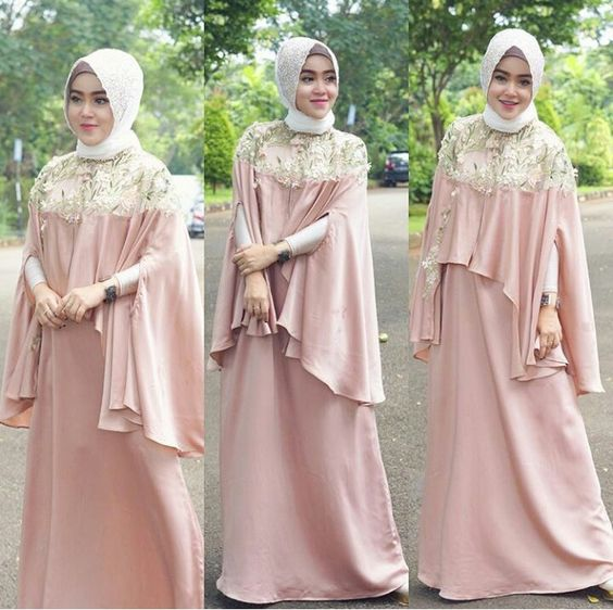 68 Model Gamis Brokat Desain Terupdate 2019 Model Baju Muslim