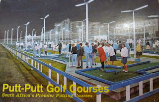 A Putt-Putt advertising / free game postcard from Cape Town, South Africa