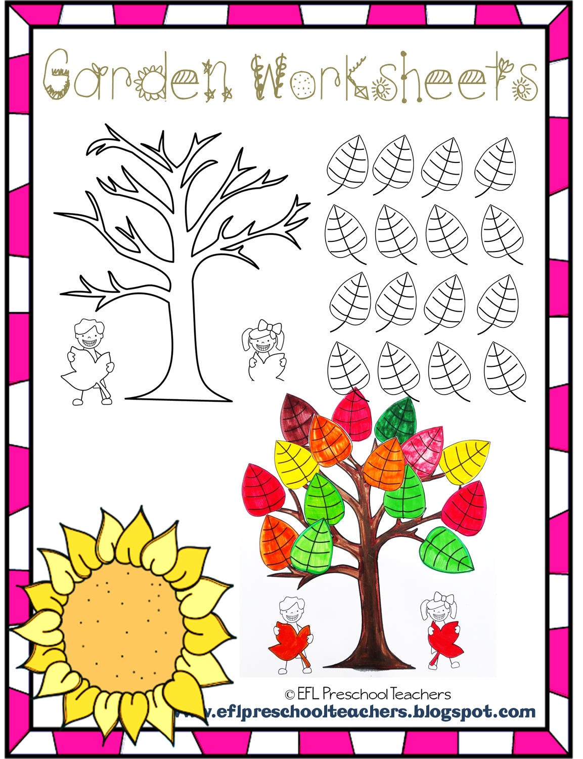 Esl Efl Preschool Teachers Garden Theme Resources For The