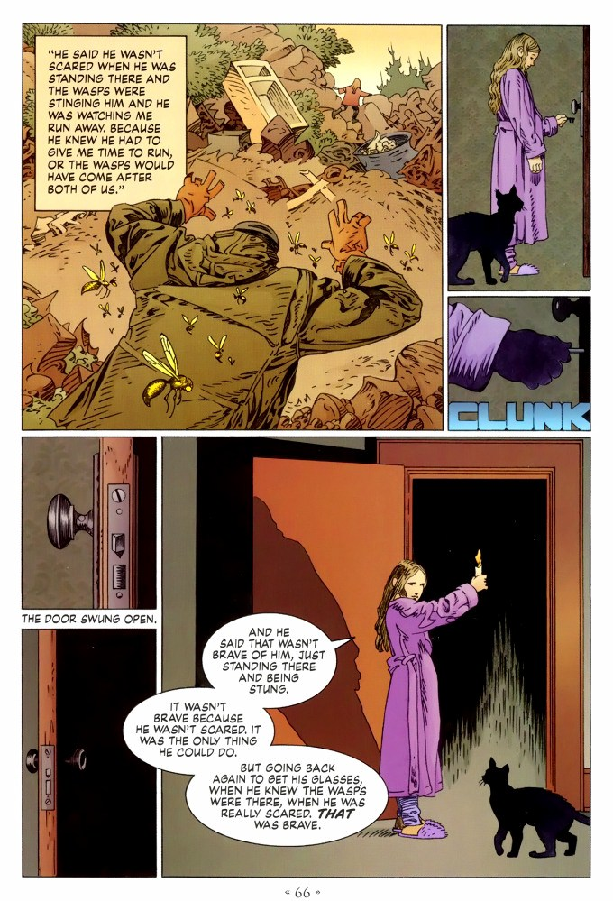 Read page 66, from Nail Gaiman and P. Craig Russell's Coraline graphic novel