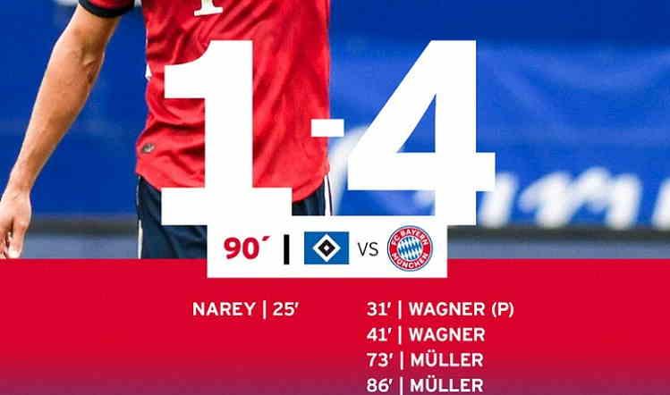 Hasil Hamburg SV vs Bayern Munchen Skor Akhir 1-4 [Friendly Match]