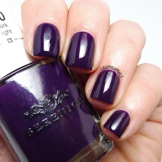 Smalto viola Berenice 20 Dark Night purple nail polish
