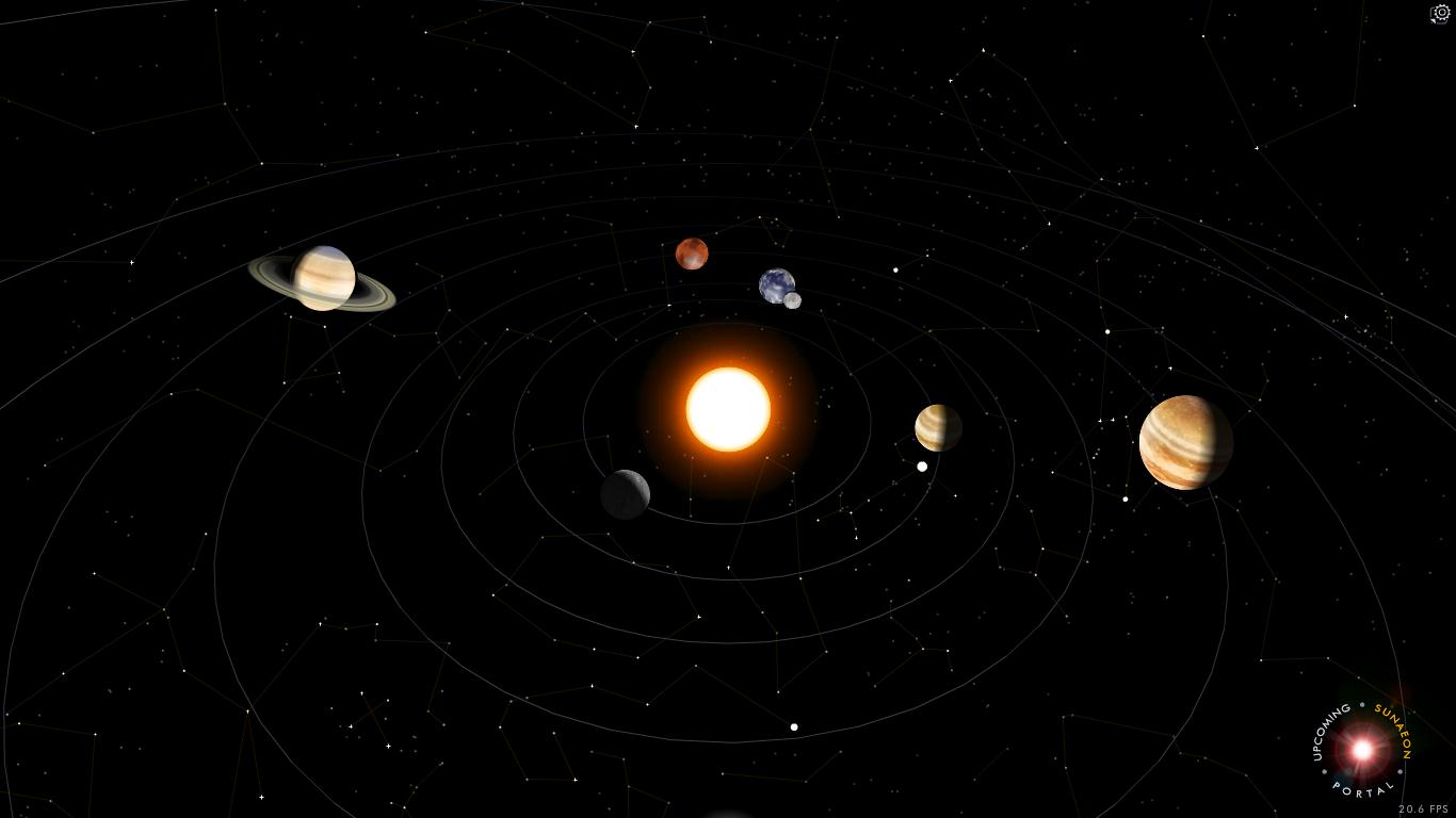 habitable moons in the solar system - HD 1366×768