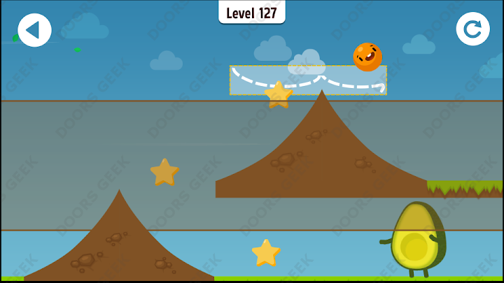 Where's My Avocado? Level 127 Solution, Cheats, Walkthrough, 3 Stars for Android, iPhone, iPad and iPod