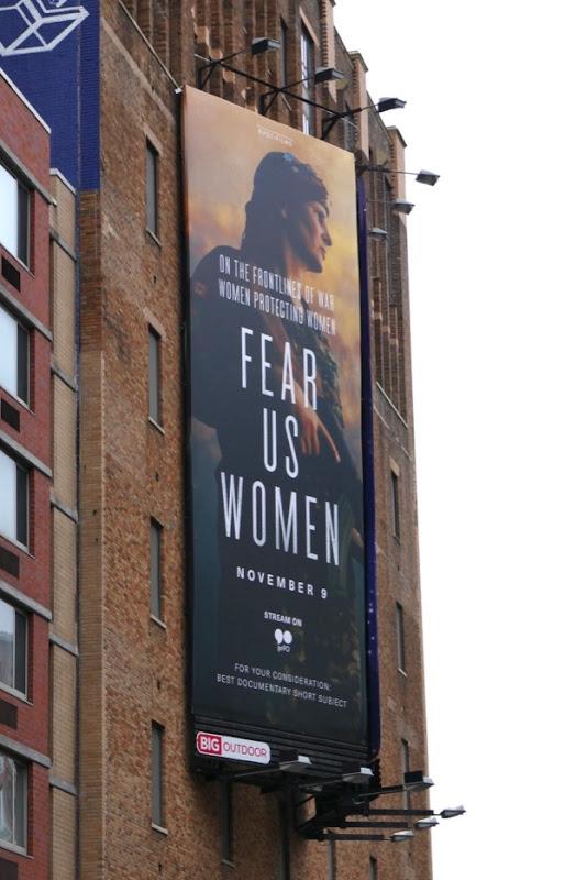 Fear Us Women documentary billboard NYC