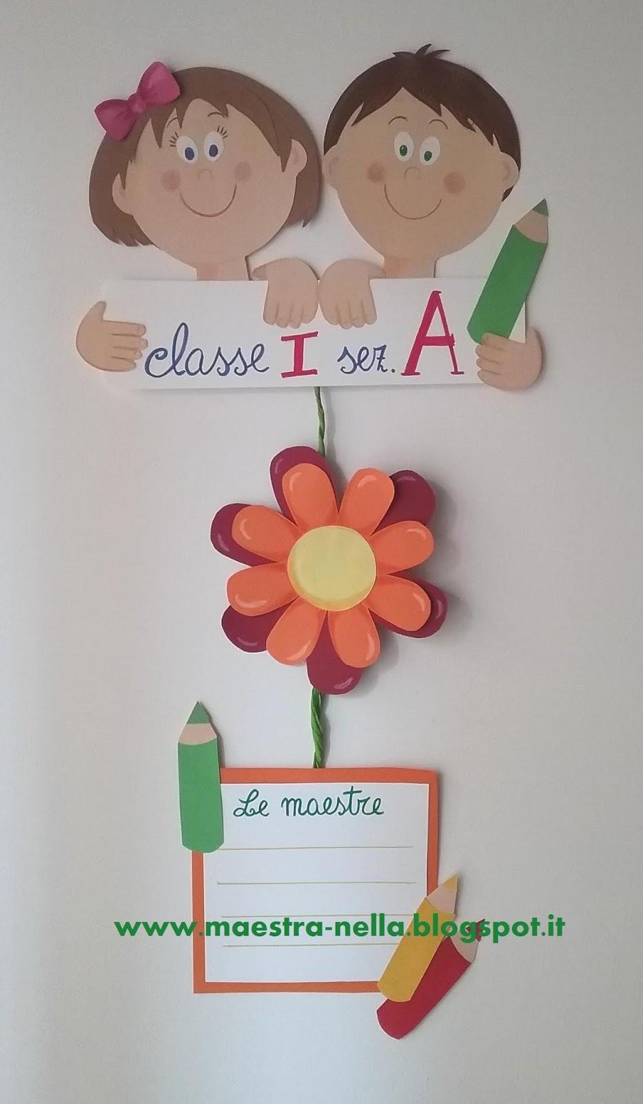 Maestra nella for Addobbare la porta dell aula