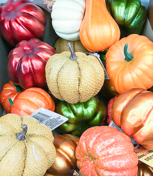 Small Dollar Tree pumpkins