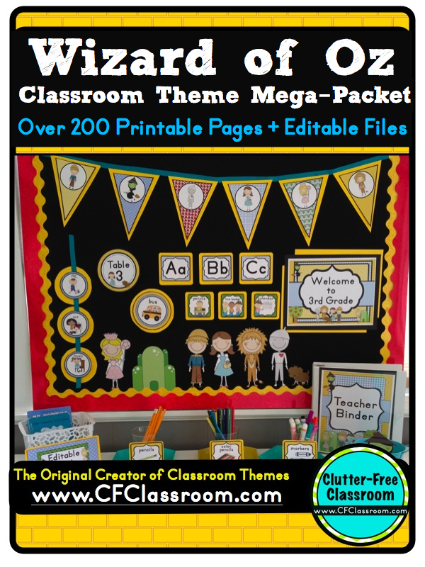 Classroom Theme Ideas For St Grade ~ Wizard of oz themed classroom ideas photos tips and