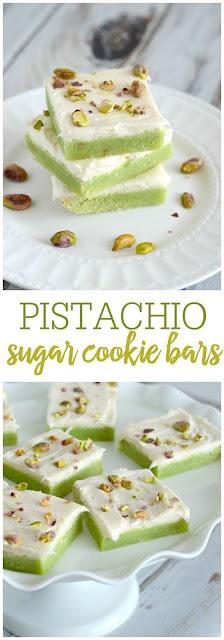 Pistachio Sugar Cookie Bars