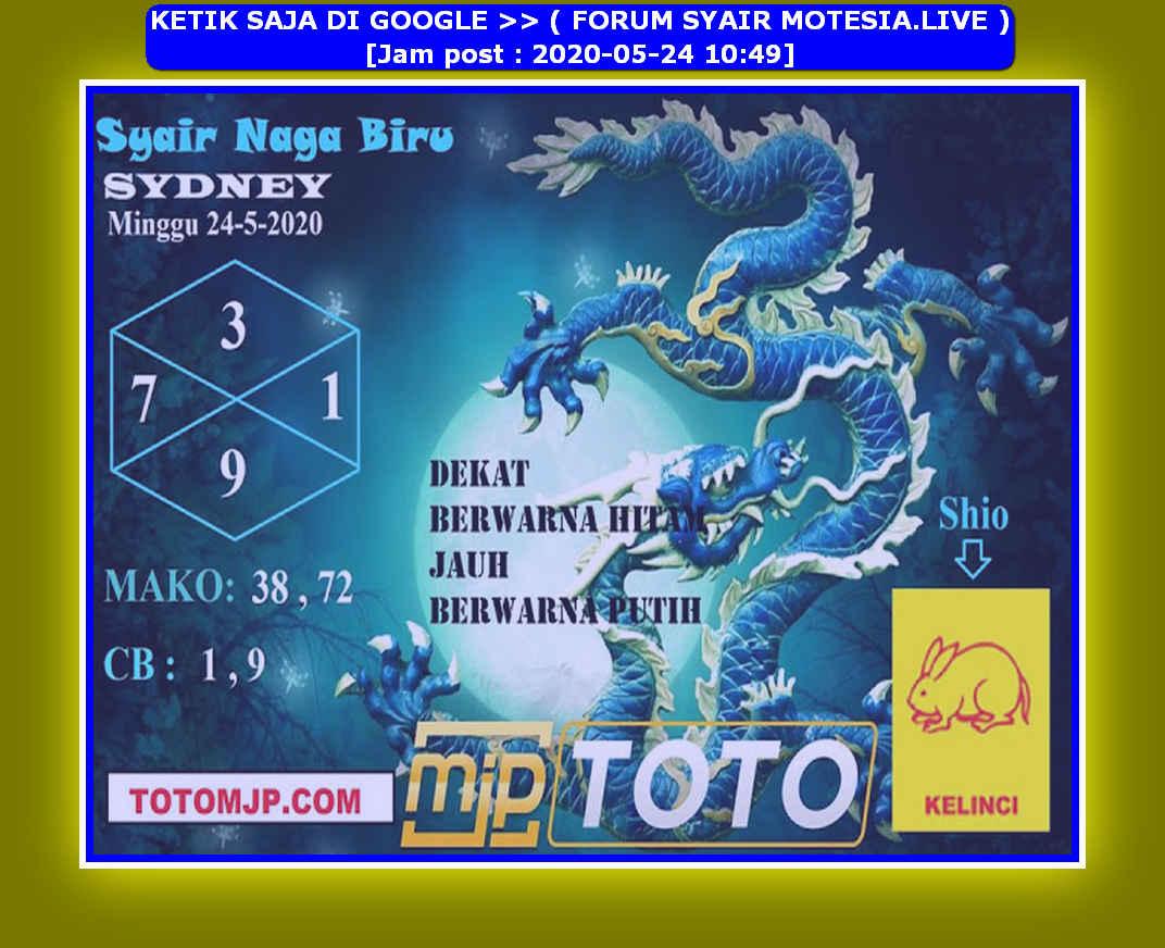 Kode syair Sydney Minggu 24 Mei 2020 97