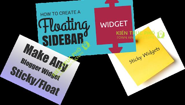 Cách tạo sticky widget cho blogspot