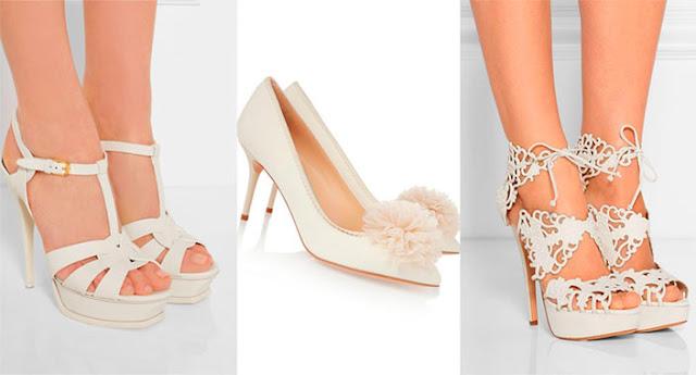 sandálias brancas