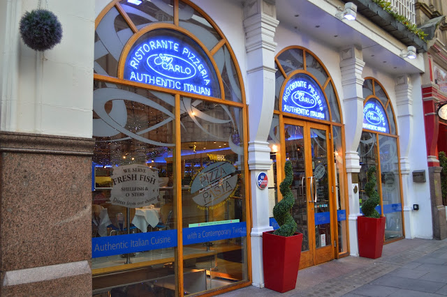 San Carlo Restaurant from the outside