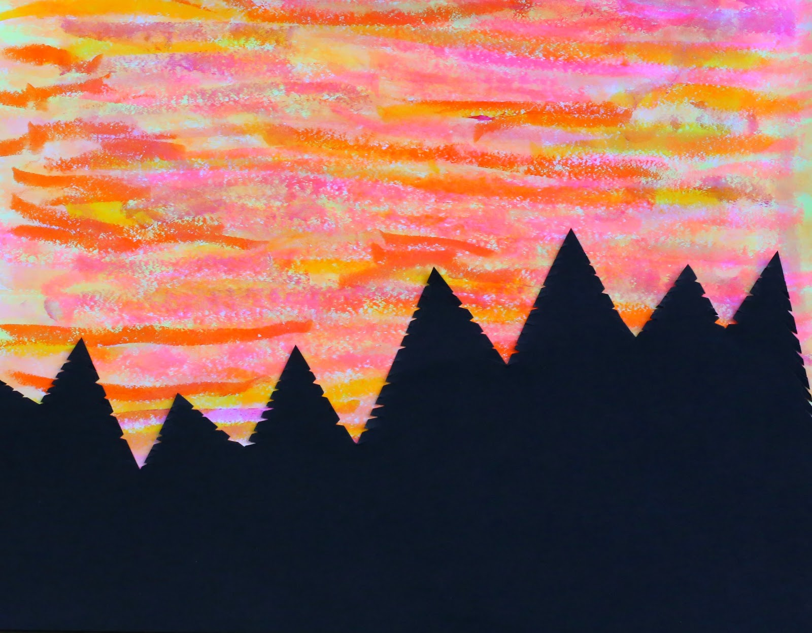 Sunset Art With Kwik Stix Our Favorite New Supply From Fun At