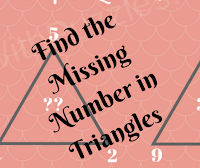 Find the Missing Number in These Triangles