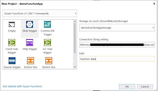 Blob trigger - Storage Account