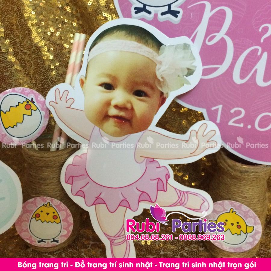 Thiet ke chibi sinh nhat cho be o Thanh Xuan