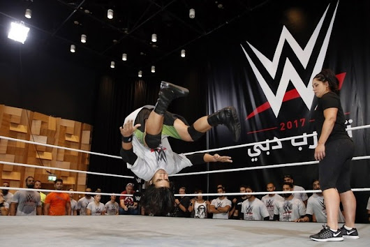 #UAE's professional #wrestling hopefuls test their mettle at #WWE try-outs