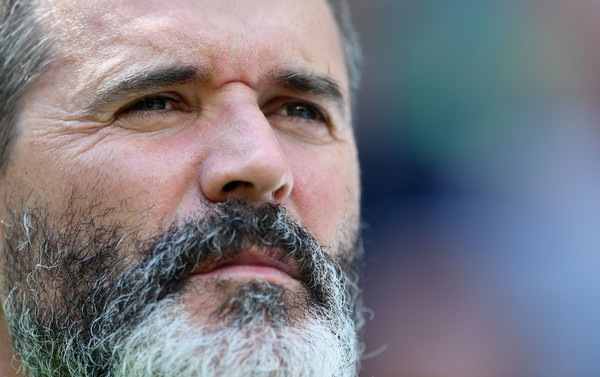 Roy Keane, assistant manager of Republic of Ireland looks on prior to the UEFA EURO 2016 round of 16 match between France and Republic of Ireland at Stade des Lumieres on June 26, 2016 in Lyon, France