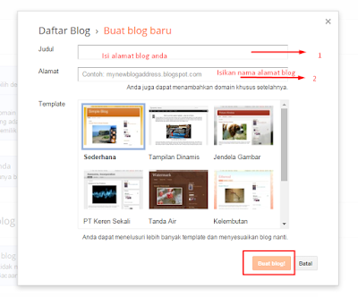 Cara dan langkah membuat blog gratisan