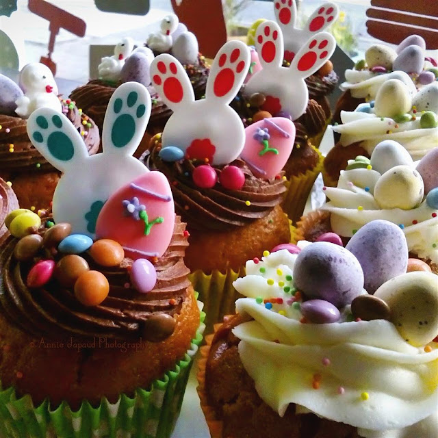 selection of Easter cupcakes