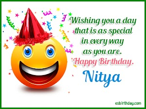 Happy Birthday Nitya