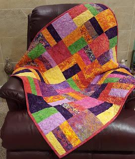1-2-3 Sew Easy Throw Quilt