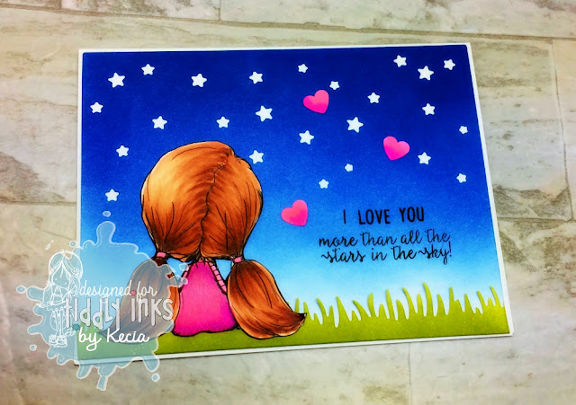Tiddly Inks, Kecia Waters, Wryn, Copic markers, Valentine, stars, Gina Marie Designs