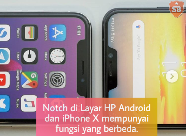 Notch Layar HP Android iPhone X