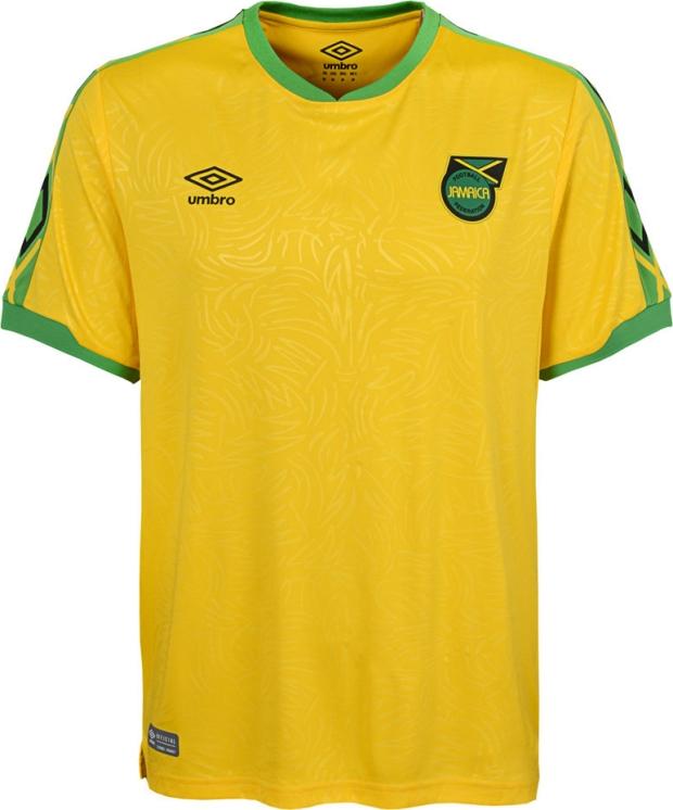 1a43b1b1f0 Umbro apresenta as novas camisas da Jamaica - Show de Camisas