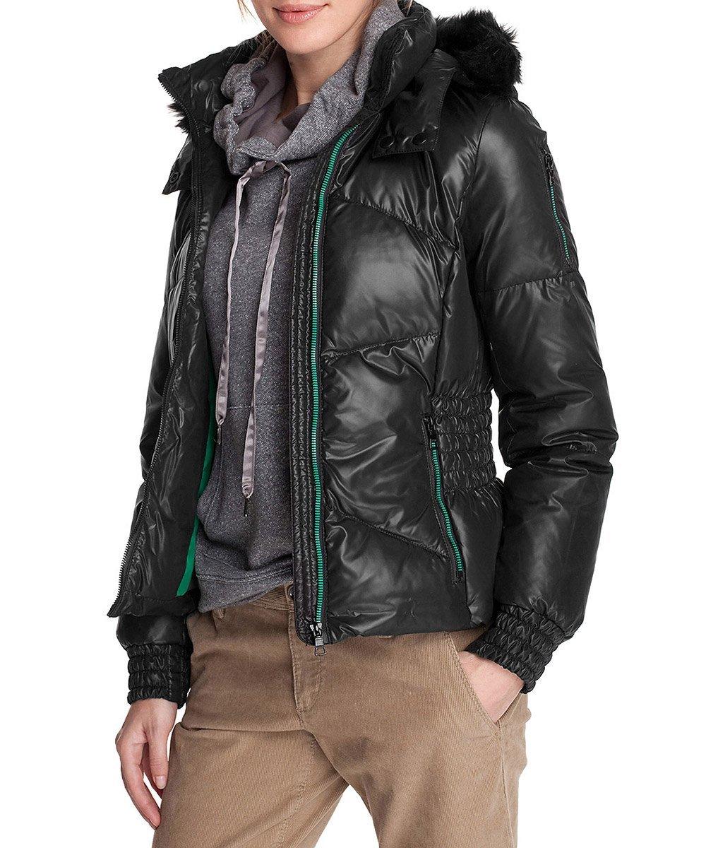 mode trends f r den winter esprit damen jacke winterjacke mit fellkapuze schwarz reduziert. Black Bedroom Furniture Sets. Home Design Ideas