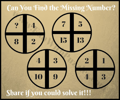 Tricky math cross circle riddle