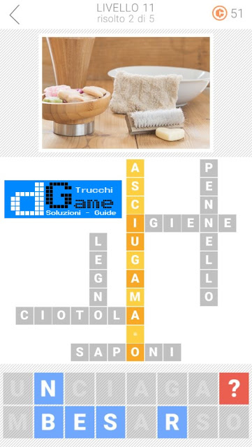 Soluzioni Parole collegate 3: Cruciverba | Livello 11