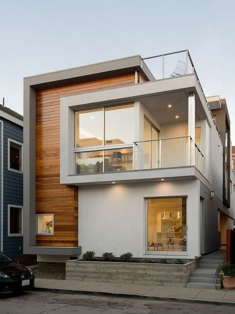 desain rumah kayu estetika modern minimalis jasa bangun