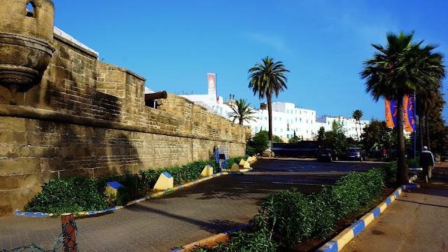 """Изображение стены форта """"Скала"""" в Касабланке"""