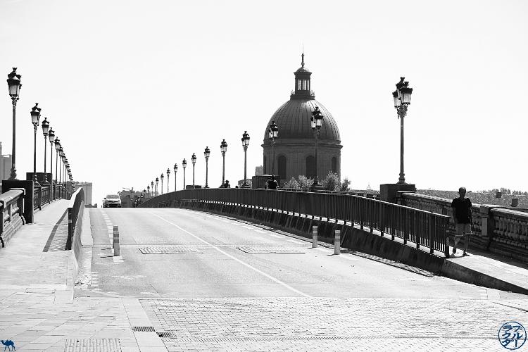 Le Chameau Bleu- blog voyage Canal des deux Mers - Pont saint pierre Toulouse
