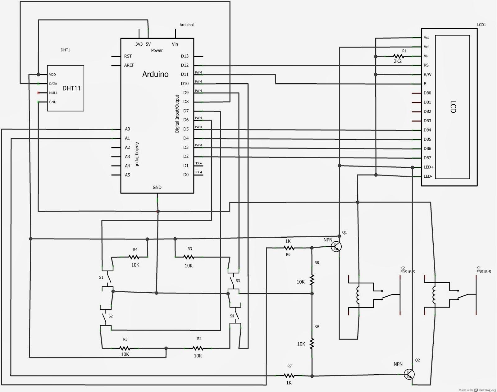 Schema Elettrico Termostato Frigo : Daniele alberti arduino s termostato