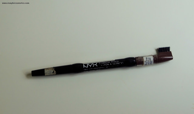 NYX Eyebrow Pencil EP04 Brown Review