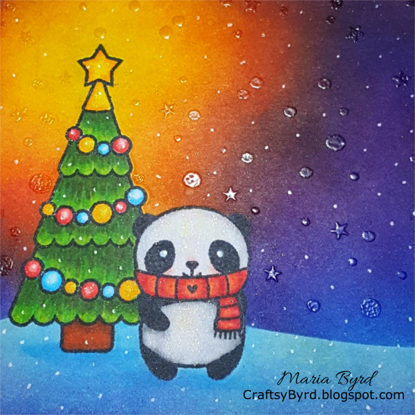 Lawn Fawn Panda Party Christmas Dreams