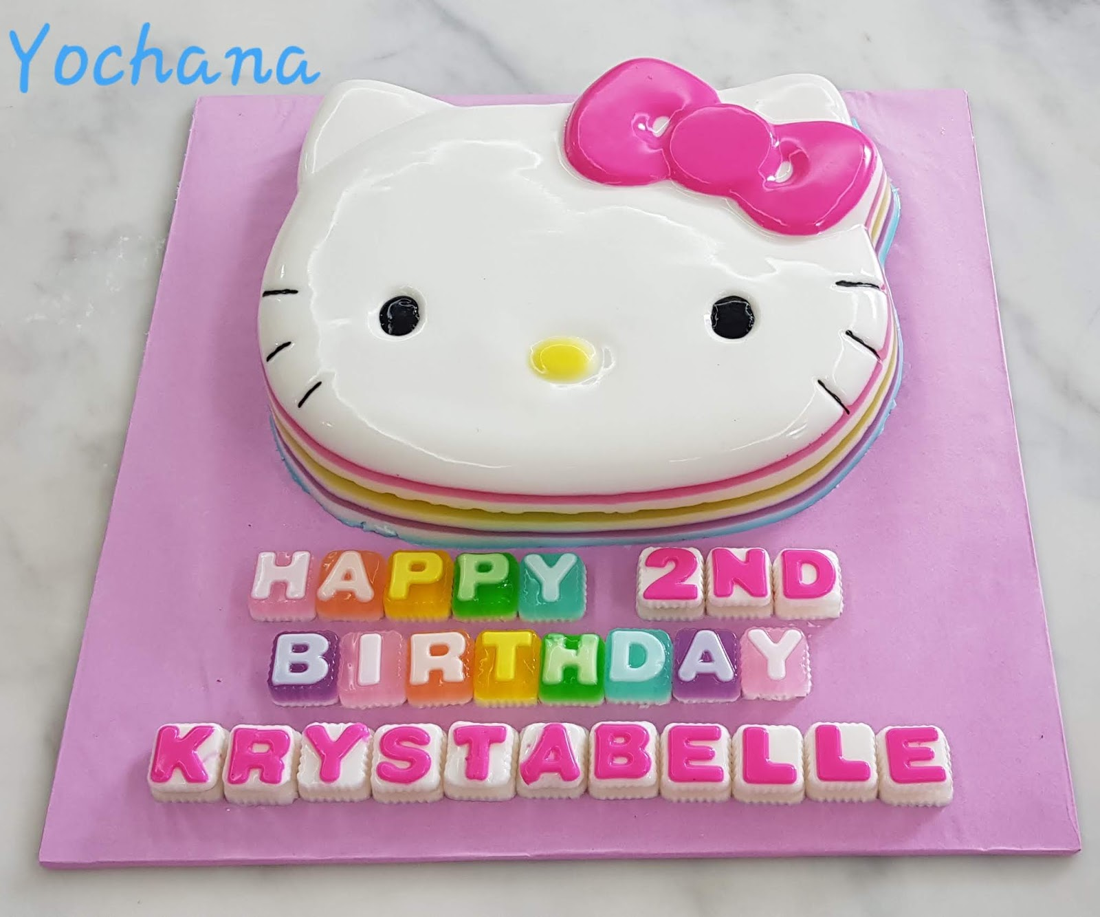 Happy 2nd Birthday Krystabelle Posted By Aunty Yochana At 723 Pm