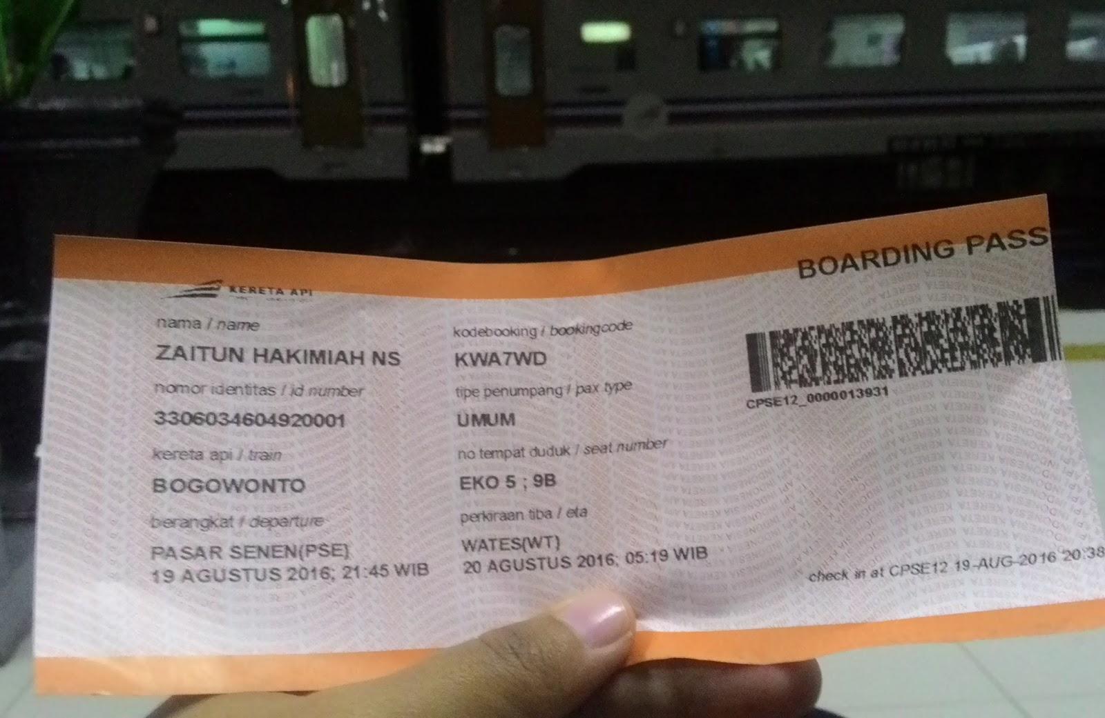 Boarding Pass Kereta Api Wamubutabi