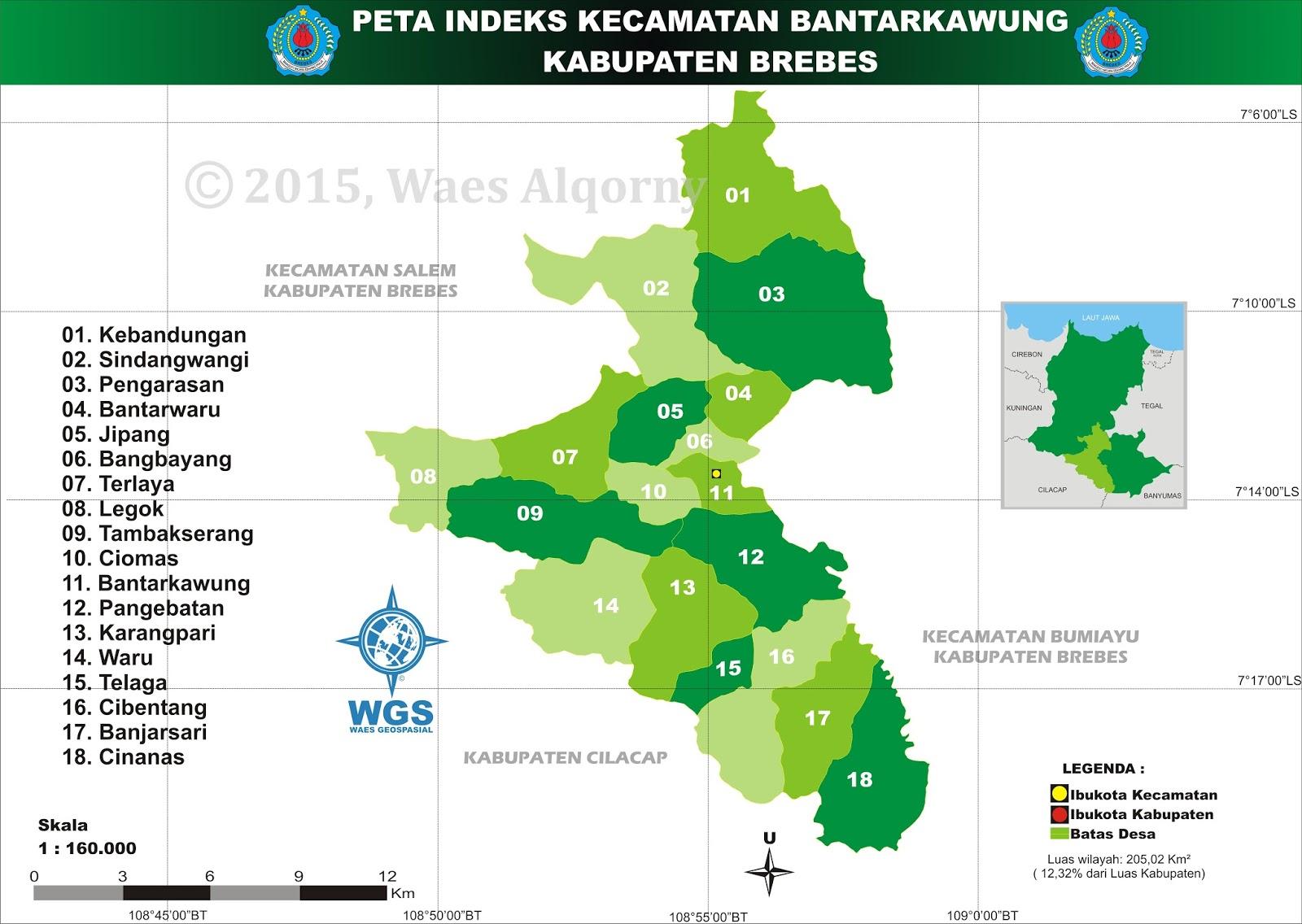 Peta Indeks Kecamatan Bantarkawung - Brebes - My Diary