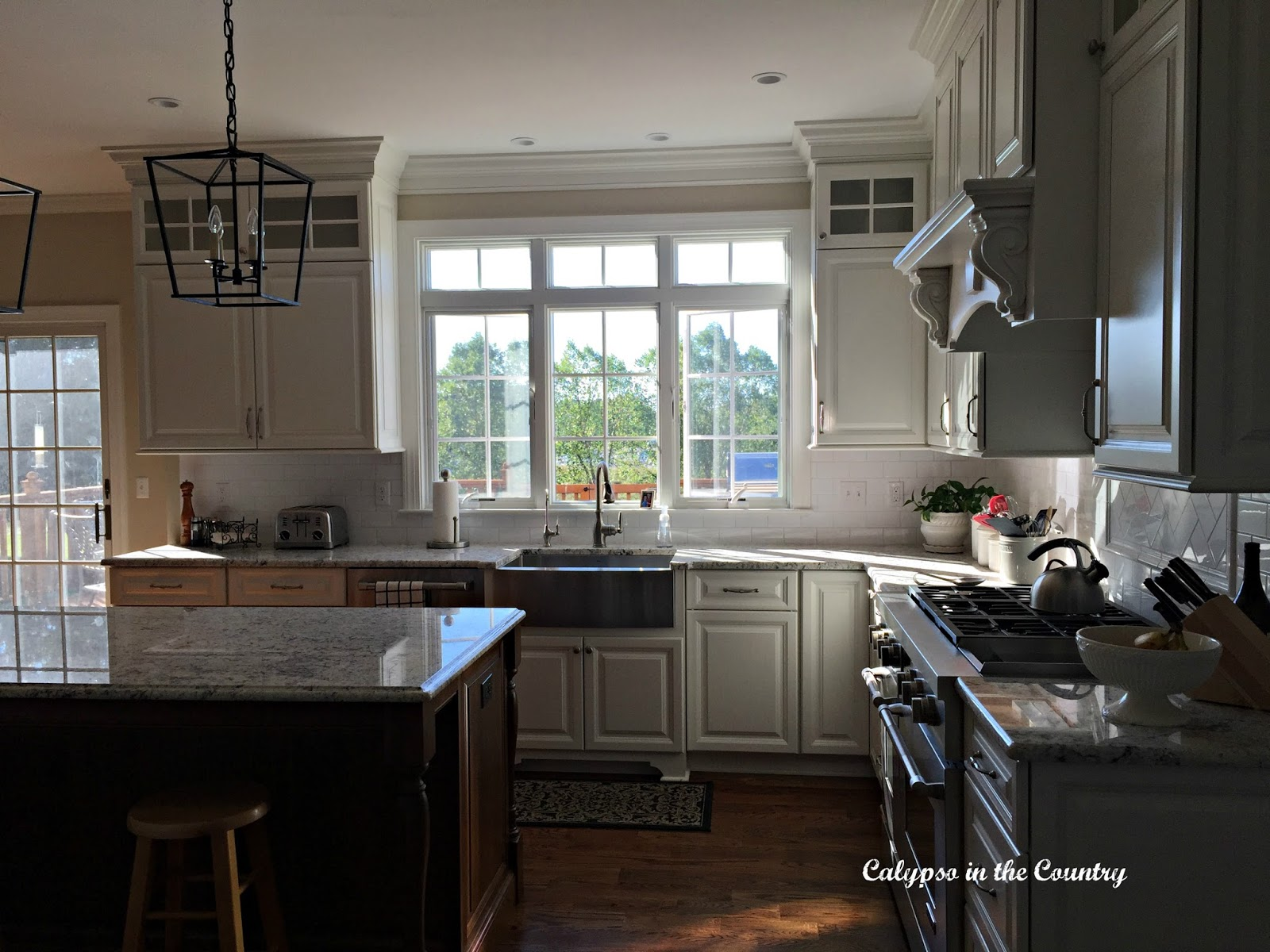 calypso in the country counter stool dilemma another combination would be to go with white counter stools like these constance stools from ballard ballard designs