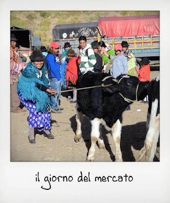 Mercato indigeno in Ecuador