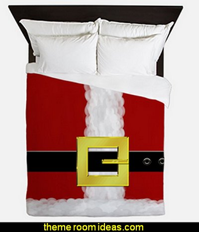 santa belly duvet covers   Christmas decorating ideas - Christmas decor - Christmas decorations - Christmas kitchen decor - santa belly pillows - Santa Suit Duvet covers - Christmas bedding - Christmas pillows - Christmas  bedroom decor  - winter decorating ideas - winter wonderland decorating - Christmas Stockings Holiday decor Santa Claus - decorating for Christmas - 3d Christmas cards