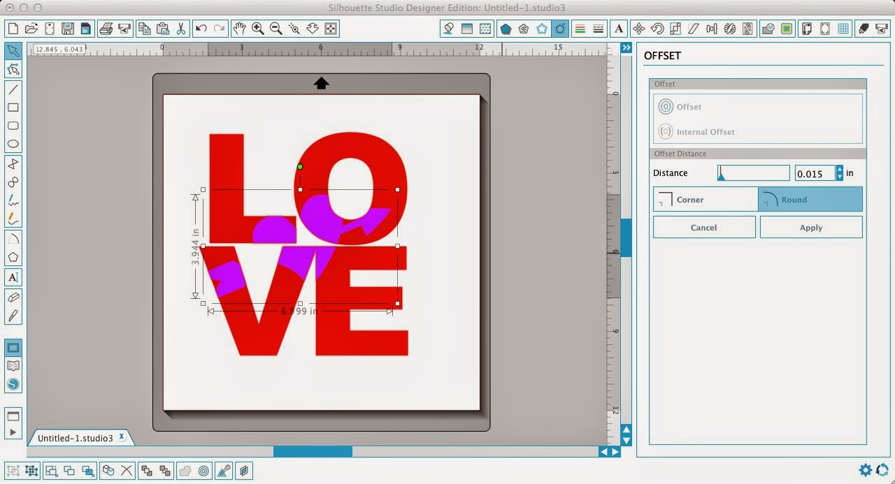Silhouette tutorial, Silhouette Studio, HTV, vinyl, paper, knockout design, offset