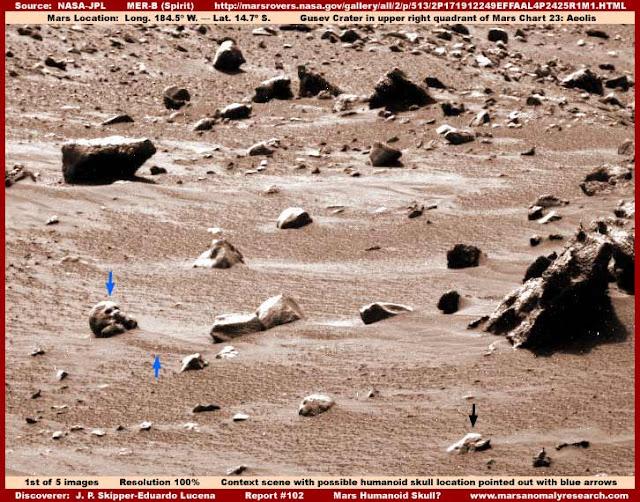 MARS HUMANOID SKULL?